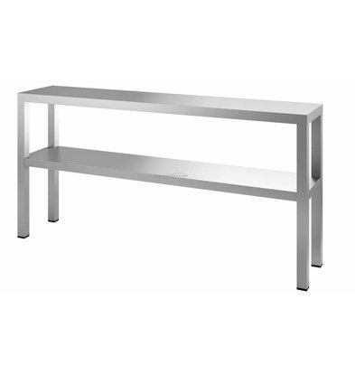 Combisteel Aufsatzbord 2-Stufig | Edelstahl | 1000x300x(h)400mm | Erhältlich in 6 Größen