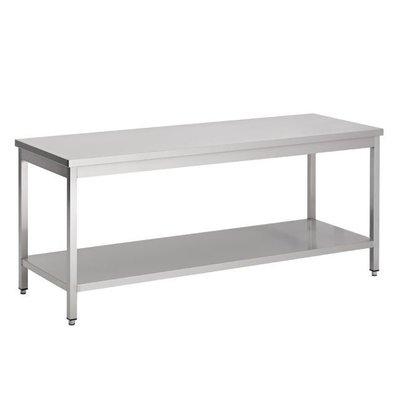 Combisteel Edelstahl Arbeitstisch | Zerlegbar | Grundboden | 800x600x(h)850mm | Erhältlich in 7 Größen