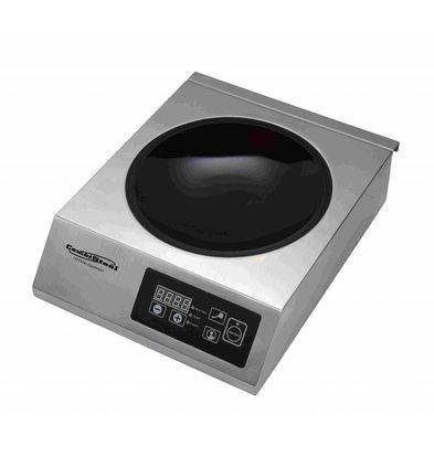 Combisteel Induktions-Wokplatte | Digital | 0,5-3,5kW | 340x440x117(h)mm