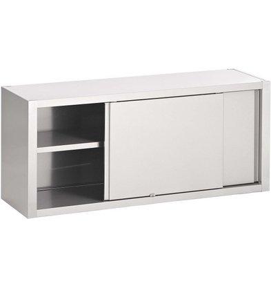Combisteel Wandhängeschrank Edelstahl | 2 Schiebetüren | 1 Etage | 1000x400x650(h)mm