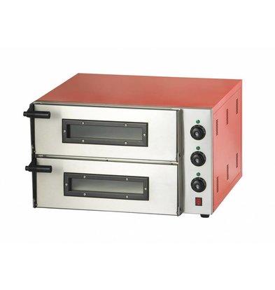 Combisteel Elektro Pizzaofen | 2x1 Pizza Ø 45 cm | 230V-3kW | 685x675x(h)430mm