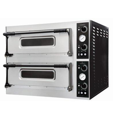 Combisteel Pizzaofen 2 Kammer | Elektro | 8x Pizza 32cm | 975x924x(h)745mm