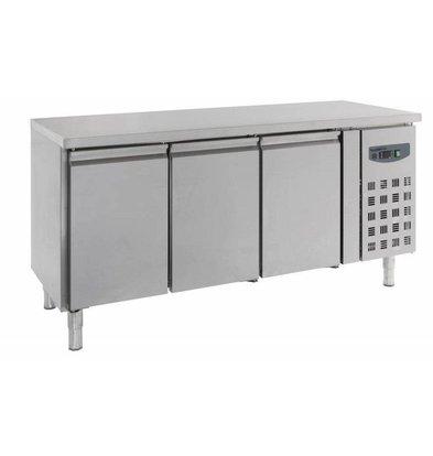 Combisteel Kühltisch Edelstahl | 3 Türen | 1800x700x(h)850mm
