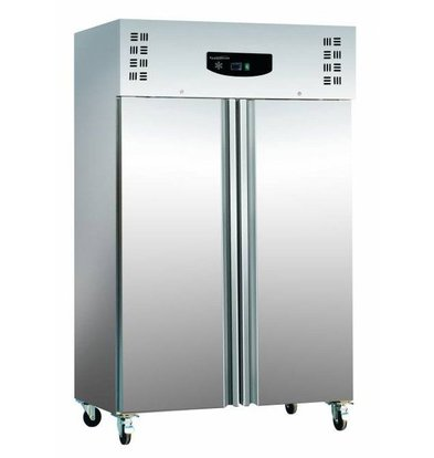 Combisteel Tiefkühlschrank Edelstahl+ Alu | 1200 Liter | Statisch | 6x 2/1 GN | 1345x815x(h)2010mm