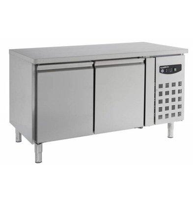 Combisteel Bäckerei Kühltisch | Edelstahl | 2 Türen | 1510x800x(h)860mm | Roste 600x400mm
