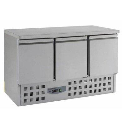 Combisteel Kühltisch Edelstahl | 3 Türen | 1360x700x(h)870mm