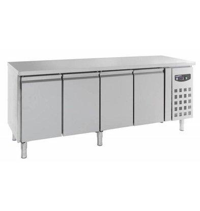 Combisteel Edelstahl Kühltisch | 4 Türen | 2230x600x(h)860mm | 511 Liter