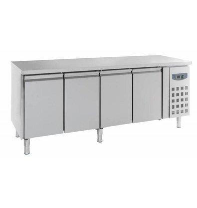 Combisteel Kühltisch Edelstahl | 4 Türen | 2230x700x(h)850mm
