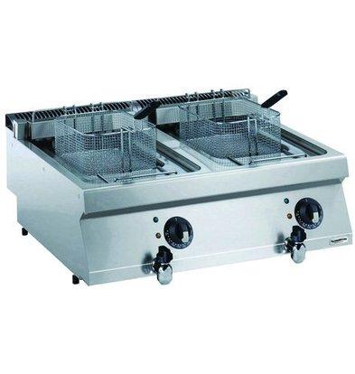 Combisteel Elektro Friteuse 2x12 Liter | 400V-8,7kW | 800x700x(h)250mm