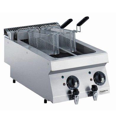 Combisteel Elektro Friteuse 2x5 Liter | 400V-9kW | 400x700x(h)250mm