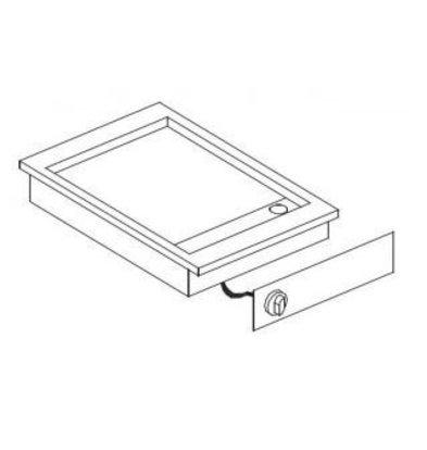 Combisteel Drop-in Grill-Backplatte | Glatt | 400V-3,6kW | 388x516mm