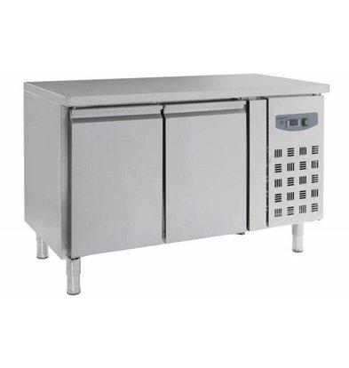 Combisteel Pizzatisch Edelstahl | 2 Türen | 1360x700x(h)850mm