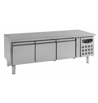 Combisteel Kühltisch niedrig Modell | 3 Türen | Edelstahl | 1795x700x650mm | 3x 1/1GN