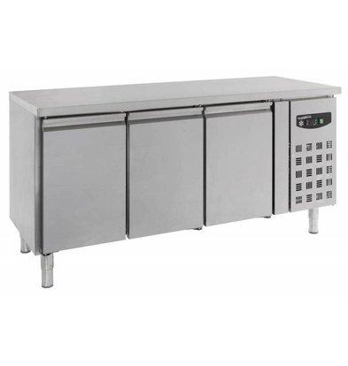 Combisteel Edelstahl Kühltisch | 3 Türen | 1798x600x(h)860mm | 386 Liter