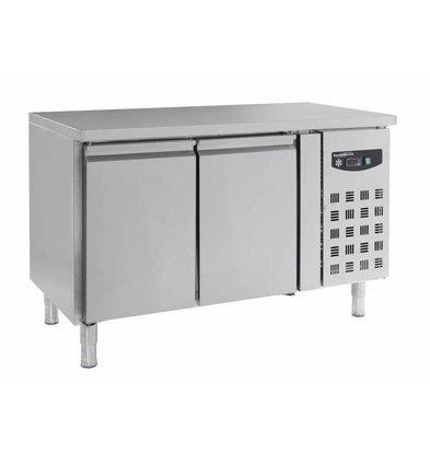 Combisteel Edelstahl Tiefkühltisch   2 Türen   1360x700x(h)850mm   230V   272 Liter