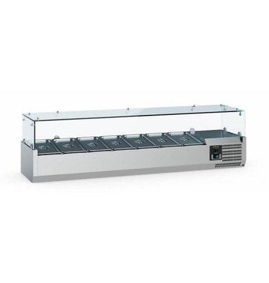 Ecofrost Aufsatzkühlvitrine | 7x 1/3 GN | 1600x395x(H)435mm