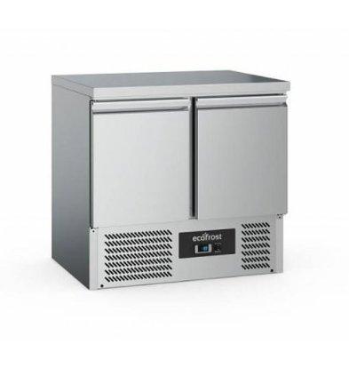 Ecofrost Kühltisch Edelstahl | 2 Türen | 240 Liter | 900x700x(h)850mm
