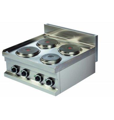 Combisteel Elektroherd Base 600 | 4 Kochplatten | 400V-3x2+1x1kW | 600x600x(h)265mm