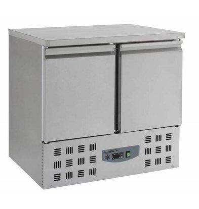 Combisteel Kühltisch Edelstahl   2 Türen    900x700x(h)870mm