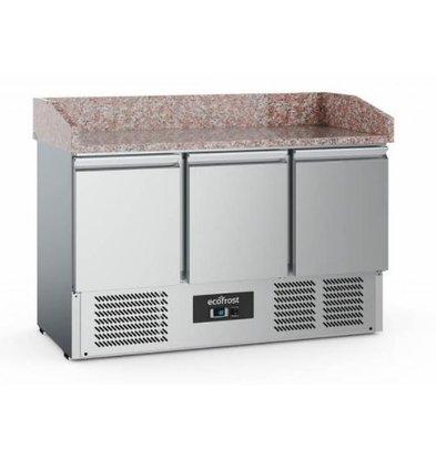 Ecofrost Pizzatisch | 3 Türen | 1400x700x(h)1020cm