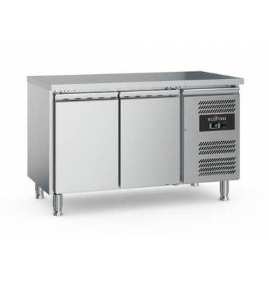 Ecofrost Kühltisch Edelstahl   2 Türen   282 Liter   1360x700x(h)850mm