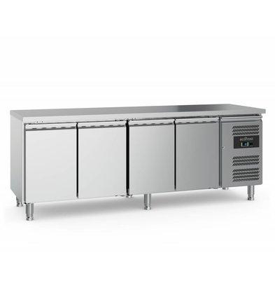 Ecofrost Kühltisch Edelstahl | 3 Türen | 553 Liter | 2230x700x(h)850mm