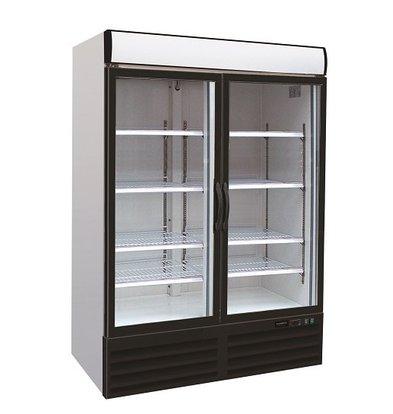 Combisteel Tiefkühlschrank 2 Glastüren | 1079 Liter | Kühlmittel R290 | 1200x712x(h)2052mm
