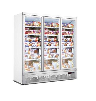 Combisteel Tiefkühlschrank | 2 Glastüre | 1450 Liter | 8 Rollen |1880x710x(h)1997mm