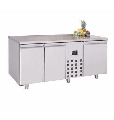 Combisteel Edelstahl Tiefkühltisch   3 Türen   1785x700x(h)850mm