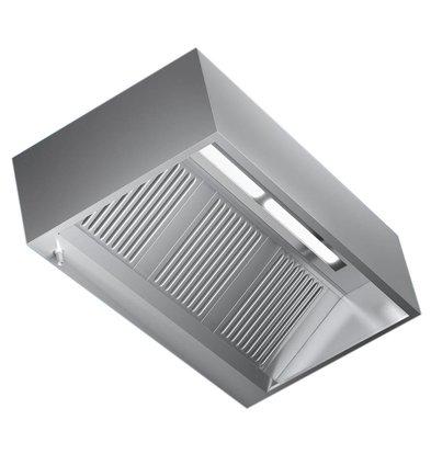 Combisteel Dunstabzugshaube Edelstahl | 2 Filter  1200x100x(h)450mm