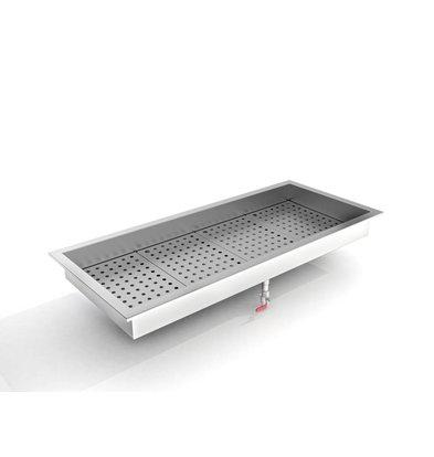 Combisteel Crushed-Eis Behälter | 4/1 GN | Einbau