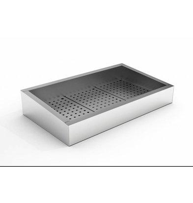 Combisteel Crushed-Eis Behälter | 3/1 GN | Schräg | Edelstahl | Abfluss Bedienungsseite