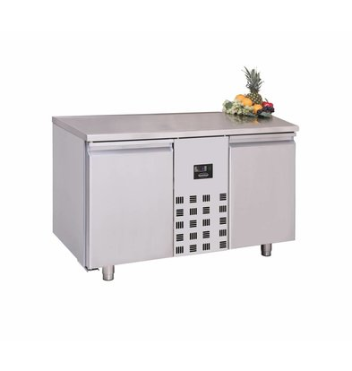 Combisteel Edelstahl Tiefkühltisch   2 Türen   1300x700x(h)850mm