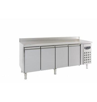 Combisteel Kühltisch mit Aufkantung | 4 Türen | 4x 1/1 | 2230x700x(h)850/950mm