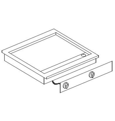 Combisteel Drop-in Grill-Backplatte | Chrom glatt | 400V-7,2kW | 588x516mm