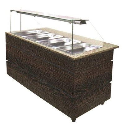 Combisteel Gastro Buffet Wenge | Warm | 4x1/1GN | 3,02kW | 1570x800x(h)1355mm