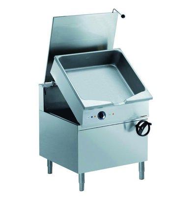 Combisteel Kippbratpfanne Gas Stahl| 1000x900x(h)850mm | Handradkippvorrichtung | 100 Liter