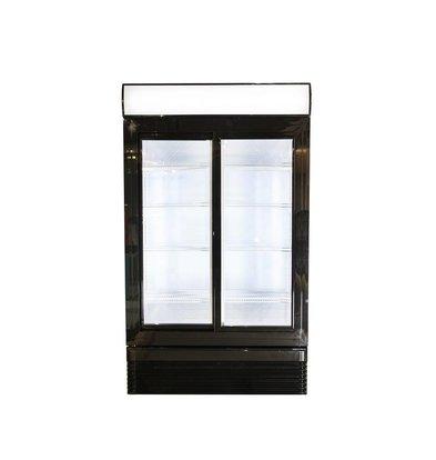 Combisteel Display Kühlschrank | 2 Schiebetüren | 750 Liter | 1120x610x(h)1965mm | LED