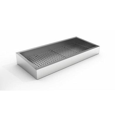 Combisteel Crushed-Eis Behälter | 4/1 GN | Schräg | Edelstahl | Abfluss Bedienungsseite