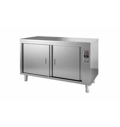 Combisteel Wärmeschrank mit Drehtür | Edelstahl | 100x700x(h)850mm