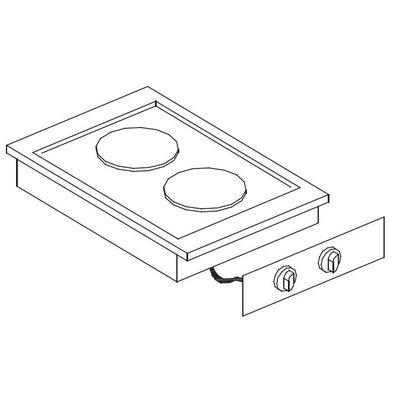Combisteel Drop-In Elektroherd | 4 Kochstellen | 4x2kW | Ø4x 180mm | 600x557mm | 400V