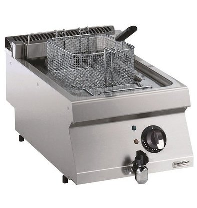 Combisteel Elektro Friteuse 12 Liter | 400V-8,7kW | 400x700x(h)250mm