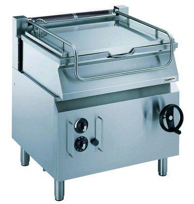 Combisteel Kippbratpfanne Gas | 800x700x(h)850mm | Handradkippvorrichtung | Stahl