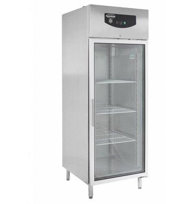 Combisteel Tiefkühlschrank 1 Glastür | 597 Liter | 3 Roste 2/1GN | 740x830x(h)2010mm