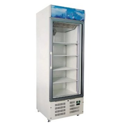 Combisteel Tiefkühlschrank 1 Glastür |578 Liter | 680x700x(h)1990mm | LED | Weiß