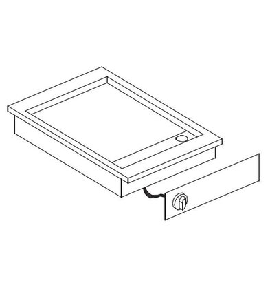 Combisteel Drop-in Grill-Backplatte | Chrom glatt | 400V-3,6kW | 388x516mm