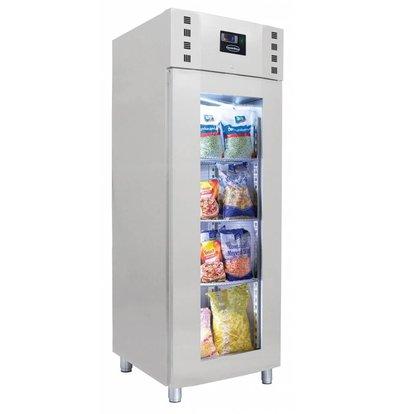 Combisteel Tiefkühlschrank mit Glastür | 700 Liter |  Umluft | 700x810(h)2050mm