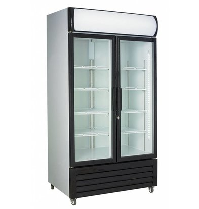 Combisteel Display Kühlschrank weiß | 2 Glastüren | 670 Liter | 1120x610x(h)1973mm | FCU-750