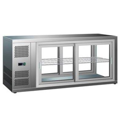 Combisteel Kuchen-Tortenvitrine | Schiebetüren 1110x510x(h)550mm | 230V