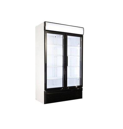 Combisteel Display Kühlschrank weiß | 2 Glastüren | 750 Liter | 1120x610x(h)1965mm | LED